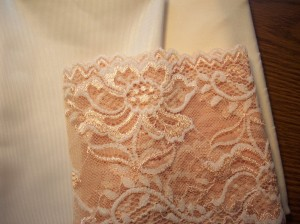 ivory and peach lace