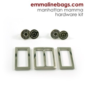 Manhattan mamma hardware kit in nickel finish